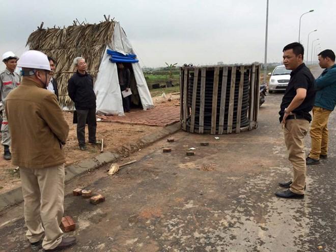 Cướp hàng tấn cáp điện tại Hà Nội