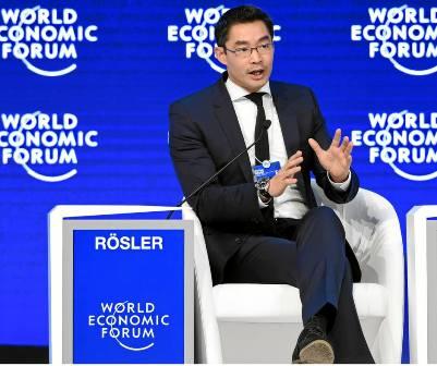 Ông Philipp Rösler tại Diễn đàn Kinh tế thế giới