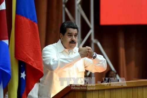 Tổng Thống Venezuela Nicolas Maduro Tại Một Sự Kiện Ở Caracas Ngày 10/4. Ảnh:  Afp/Ttxvn