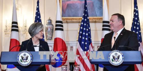 Ngoại trưởng Hàn - Mỹ - Nhật gặp nhau sau Hội nghị thượng đỉnh Mỹ - Triều