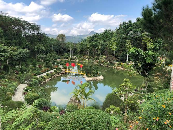Khung cảnh tuyệt đẹp ở Công viên Di sản các nhà khoa học Việt Nam.