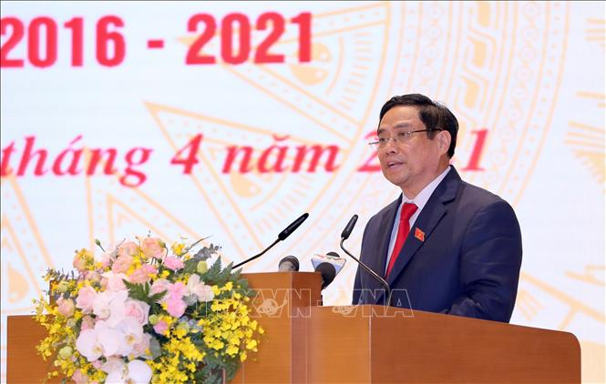 Thủ tướng Chính phủ Phạm Minh Chính phát biểu tại Lễ bàn giao. Ảnh: TTXVN