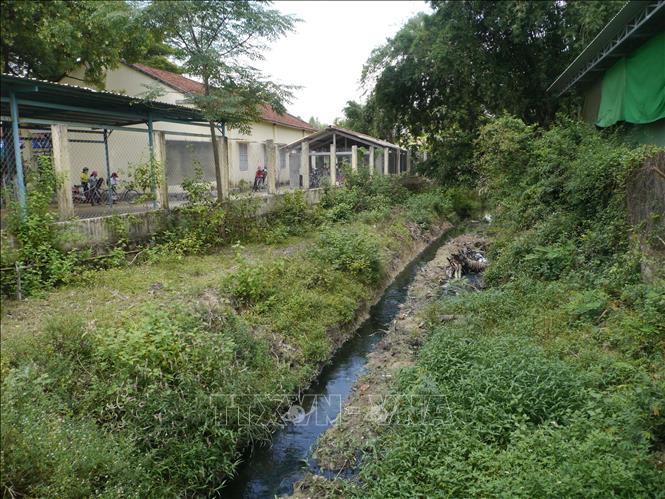 ccn Bình Định Trường học nhịn thở vì nước thải của cụm công nghiệp