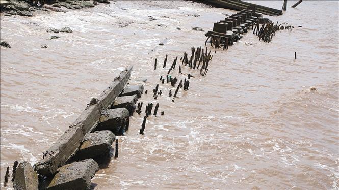 Trà Vinh khẩn trương khắc phục tình trạng sạt lở bờ sông, bờ biển