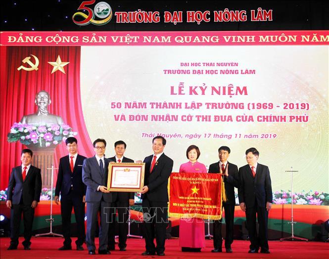 Đại học Nông lâm Thái Nguyên đón nhận Cờ thi đua xuất sắc của Chính phủ