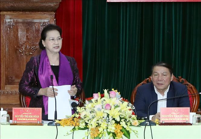 Chủ tịch Quốc hội Nguyễn Thị Kim Ngân làm việc với Ban Thường vụ Tỉnh ủy Quảng Trị  - Ảnh 1.