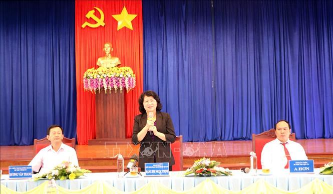 Phó Chủ tịch nước Đặng Thị Ngọc Thịnh làm việc tại huyện Đăk Tô, Kon Tum