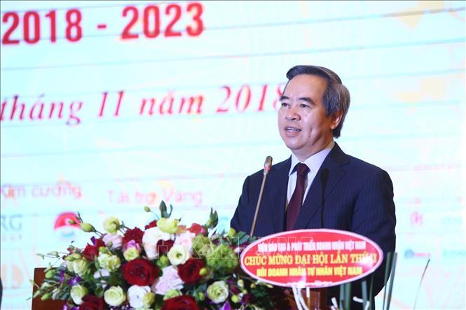 Đồng chí Nguyễn Văn Bình, Ủy viên Bộ Chính trị, Bí thư Trung ương Đảng, Trưởng Ban kinh tế Trung ương phát biểu (Ảnh: Minh Quyết/TTXVN)