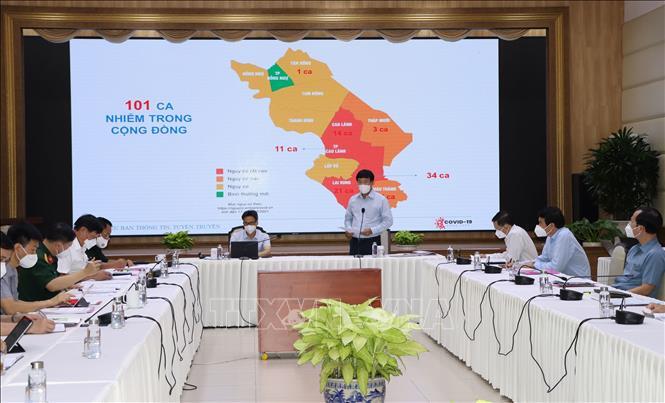 Phó Thủ tướng Vũ Đức Đam kiểm tra công tác phòng, chống dịch COVID-19 tại tỉnh Đồng Tháp.