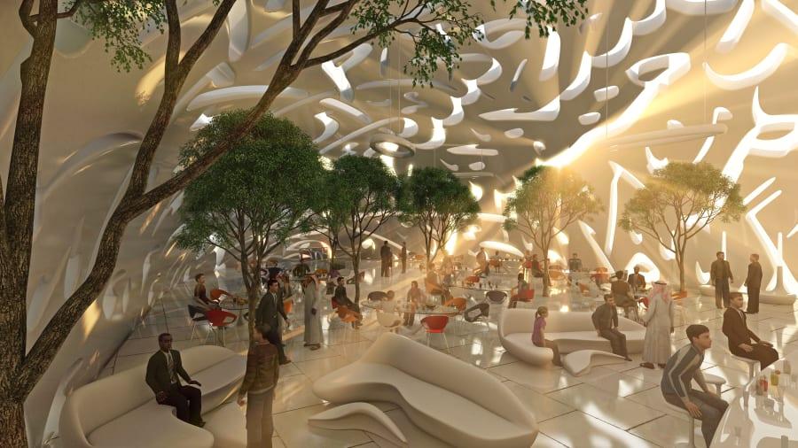 Ánh sáng tự nhiên tràn ngập bên trong bảo tàng. Ảnh: Tổ chức Tương lai Dubai