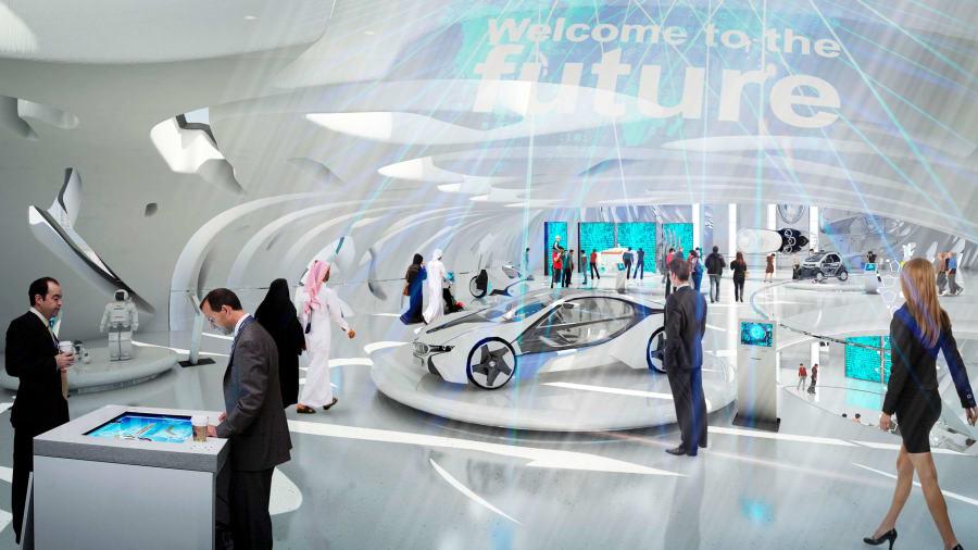 Không gian hiện đại bên trong bảo tàng. Ảnh: Tổ chức Tương lai Dubai