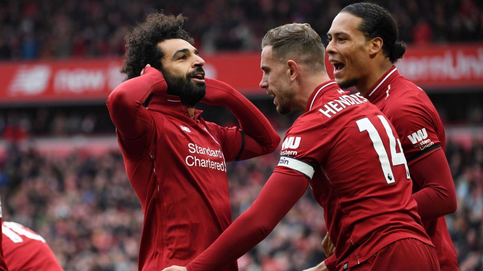 Niềm vui của các cầu thủ Liverpool. Ảnh: Eurosport