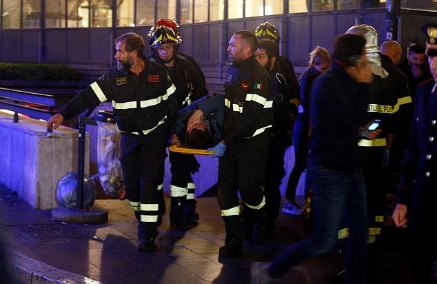 Cổ động viên CSKA Moscow gặp tai nạn cầu tháng máy kinh hoàng