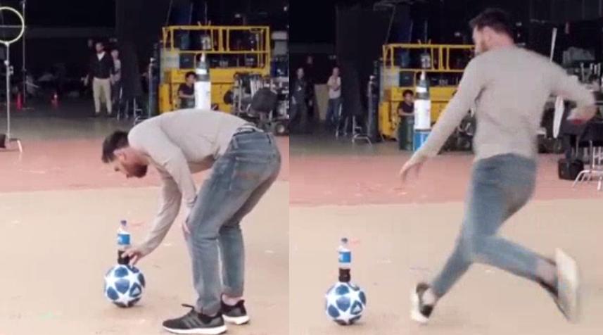 Thử thách Messi dễ dàng bị vượt qua bởi một cậu bé… khoác áo Ronaldo