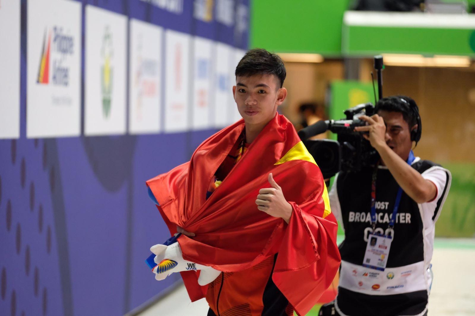 Nguyễn Huy Hoàng có tới 2 chuẩn thi đấu tại Olympic Tokyo 2020. Ảnh: TTXVN