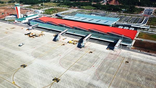 Toàn cảnh cảng hàng không quốc tế Vân Đồn