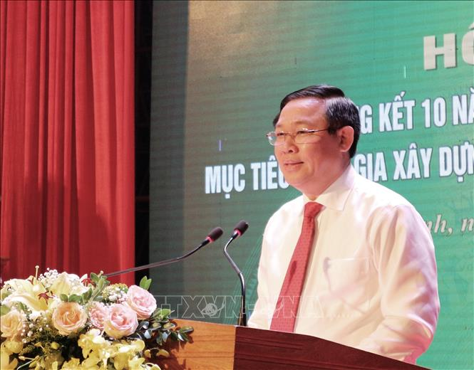 Phó Thủ tướng Vương Đình Huệ dự hội nghị xây dựng nông thôn mới ở Hà Tĩnh