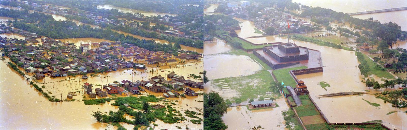 Ngập lụt ở Huế sáng ngày 5/11/1999.