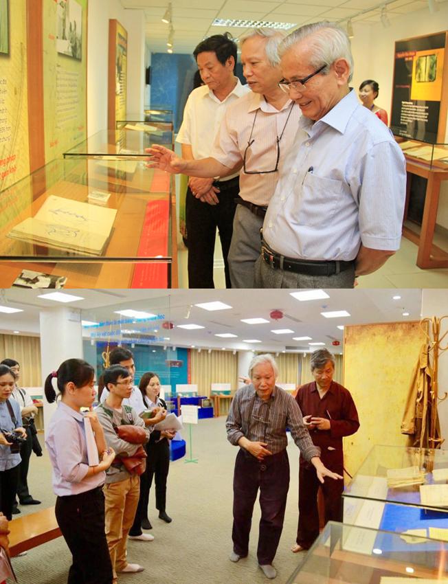 Trưng bày Di sản các nhà khoa học Việt Nam.