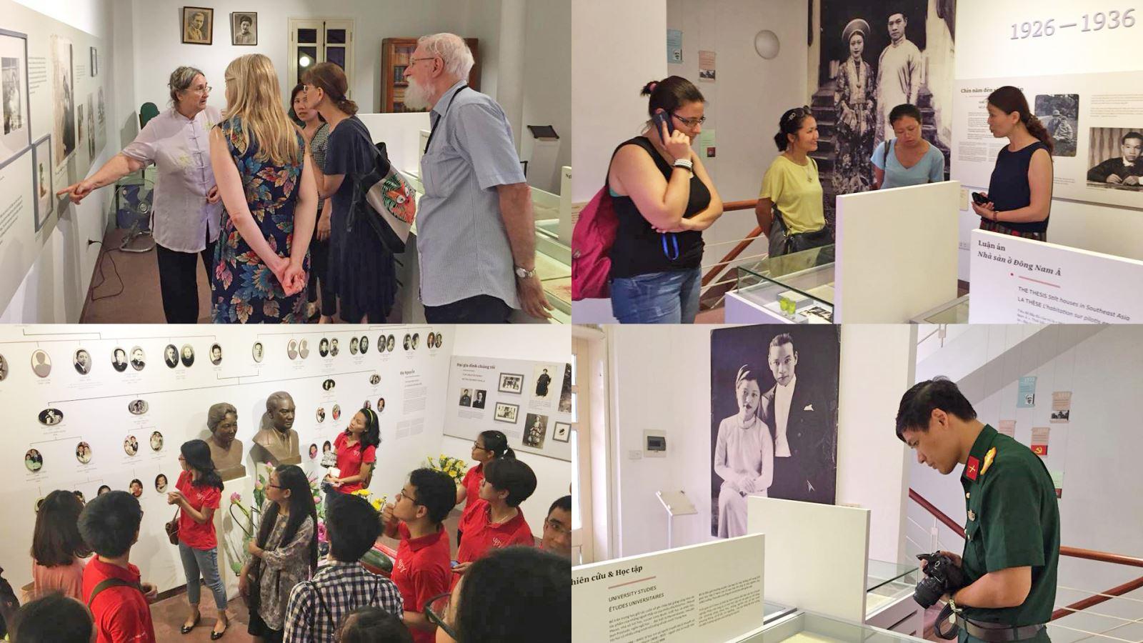 Du khách trong và ngoài nước thăm bảo tàng Nguyễn Văn Huyên.