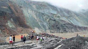 Số người chết trong vụ sập mỏ ở Myanmar tăng lên trên 100 người