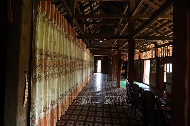 Một nhà sàn truyền thống của đồng bào dân tộc Thái. Ảnh: Phan Tuấn Anh/TTXVN