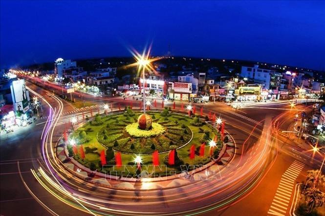 Vòng xoay trung tâm Thành Phố Đồng Xoài - Bình Phước