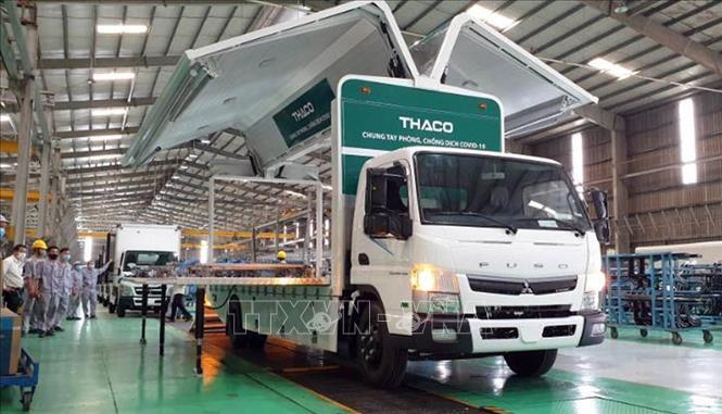 Thaco Chu Lai tặng 126 xe chuyên dụng phục vụ tiêm chủng vaccine cho Bộ Y tế   baotintuc.vn