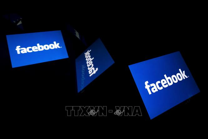 Biểu tượng của Facebook. Ảnh: AFP/TTXVN