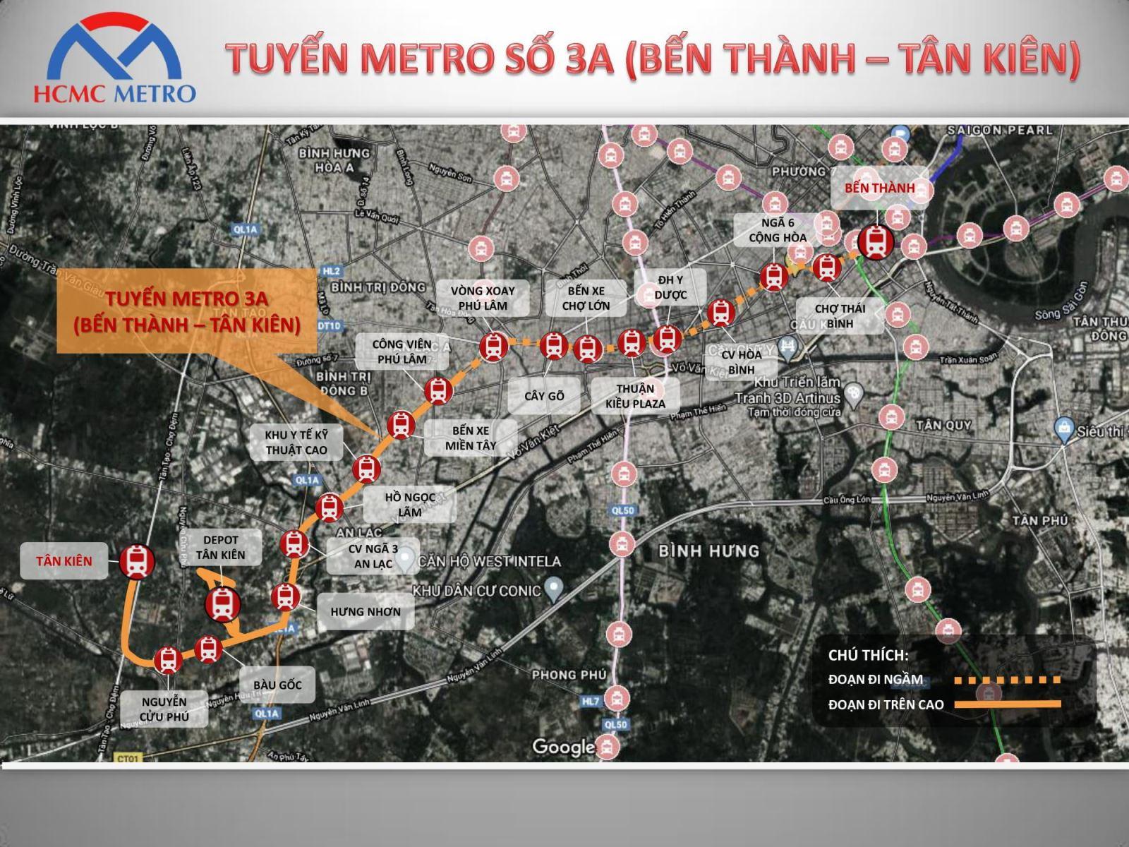 TP Hồ Chí Minh đề xuất  đầu tư xây dựng tuyến đường sắt đô thị Bến Thành - Tân Kiên