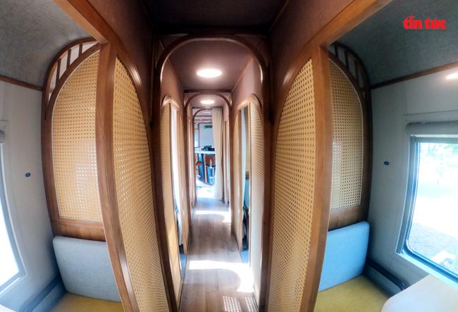 Cận cảnh toa tàu lửa có quầy bar và ghế massage thư giãn cho khách đầu tiên ở Việt Nam - ảnh 4