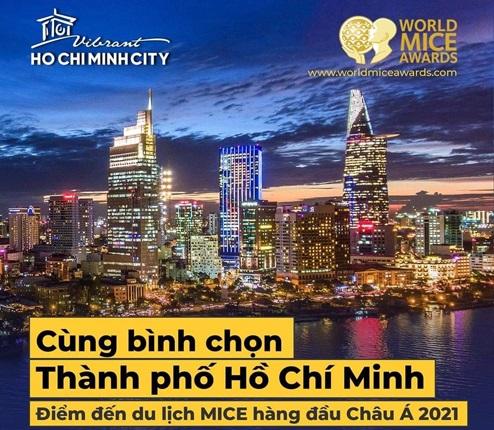 TP Hồ Chí Minh được đề cử 'Điểm đến du lịch MICE hàng đầu châu Á năm 2021'