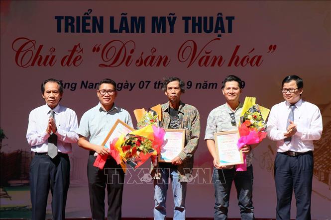 Triển lãm mỹ thuật 'Di sản văn hóa' tại Quảng Nam