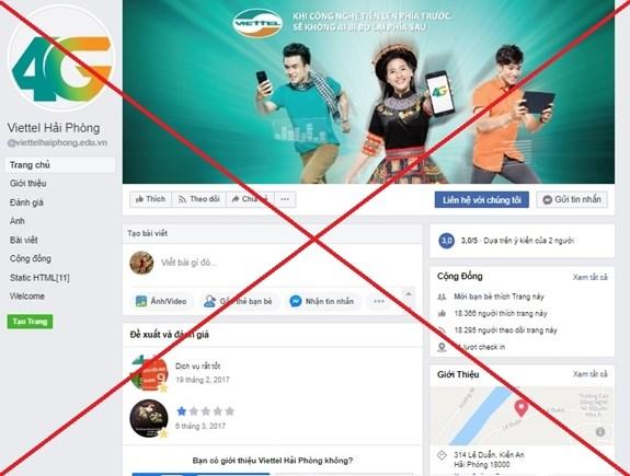 Gỡ bỏ 186 trang thông tin mạo danh thương hiệu Viettel trên Facebook
