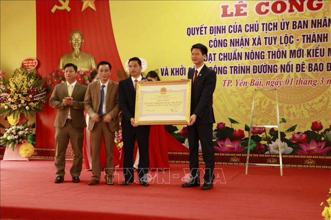Xã đầu tiên của Yên Bái được công nhận đạt chuẩn nông...