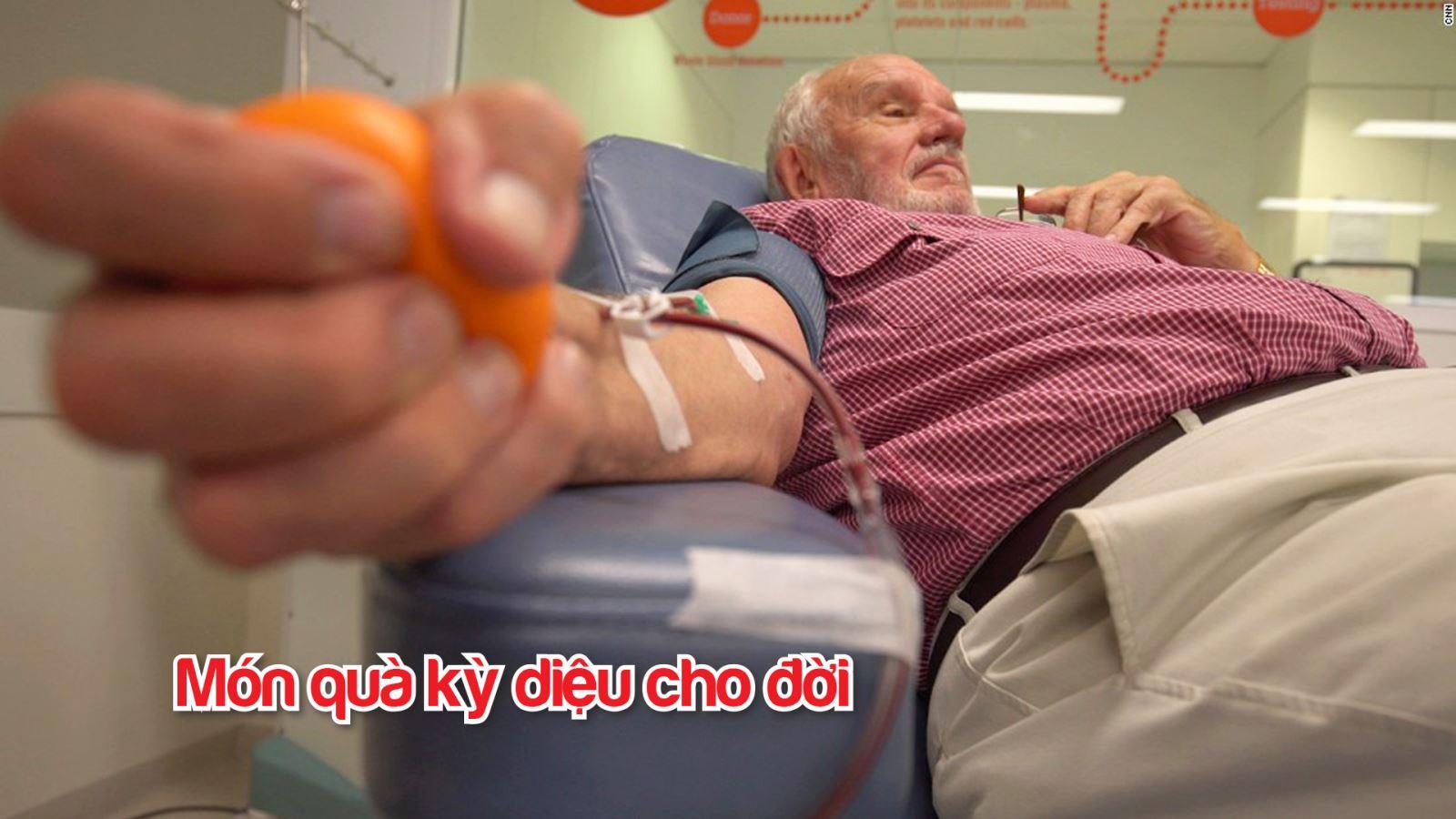 Harrison hiến máu cứu mạng 2,4 triệu đứa trẻ Australia