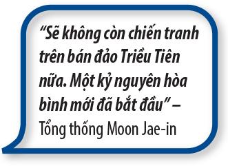 """Quotes3: """"Hội nhập kinh tế không chỉ làm lợi cho Triều Tiên, mà còn cho Hàn Quốc một động cơ tăng trưởng mới"""" – Moon Jae-in"""