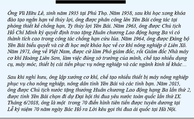 Kỹ sư già Vũ Hữu Lê - người sáng chế máy nông cụ